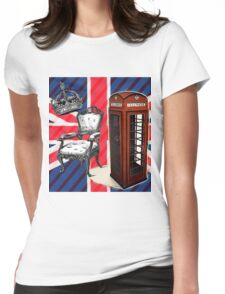 modern jubilee telephone booth london UK fashion Womens Fitted T-Shirt