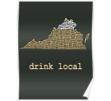 Drink Local - Virginia Beer Shirt Poster