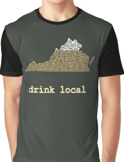 Drink Local - Virginia Beer Shirt Graphic T-Shirt
