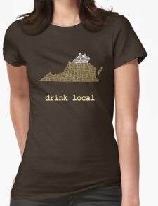 Drink Local - Virginia Beer Shirt Womens Fitted T-Shirt