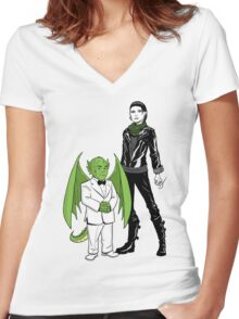 The Girl With the Dragon Tattoo Women's Fitted V-Neck T-Shirt