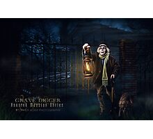 Grave Digger, Haunted Mansion Series by Topher Adam The Dark Noveler Photographic Print