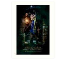 Night Shift, Haunted Mansion Series by Topher Adam The Dark Noveler Art Print