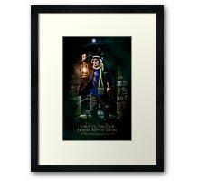 Night Shift, Haunted Mansion Series by Topher Adam The Dark Noveler Framed Print