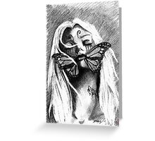 Silent deception Greeting Card