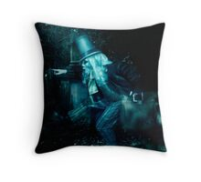 The Hitchhiking Ghosts, Haunted Mansion Series by Topher Adam The Dark Noveler Throw Pillow