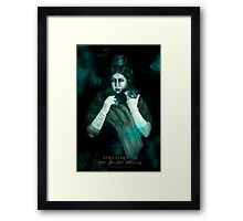 Aunt Florence, Haunted Mansion Series by Topher Adam The Dark Noveler Framed Print