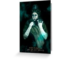 Aunt Florence, Haunted Mansion Series by Topher Adam The Dark Noveler Greeting Card