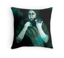 Aunt Florence, Haunted Mansion Series by Topher Adam The Dark Noveler Throw Pillow