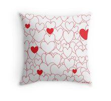 Hearts1 Throw Pillow