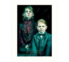 The Twins, Haunted Mansion Series by Topher Adam The Dark Noveler Art Print