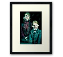The Twins, Haunted Mansion Series by Topher Adam The Dark Noveler Framed Print