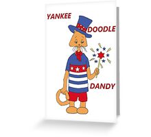 Yankee Doodle Kitty Greeting Card