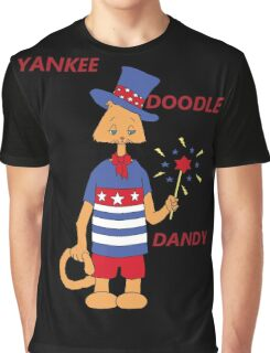 Yankee Doodle Kitty Graphic T-Shirt