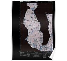 USGS Topo Map Washington State WA Freeland 20110418 TM Inverted Poster