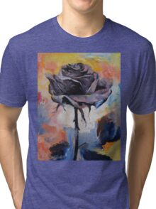 Black Rose Tri-blend T-Shirt