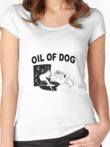 OIL OF DOG SWAG Women's Fitted Scoop T-Shirt