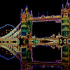 Tower Bridge Neon  by CardZone By Ian Jeffrey