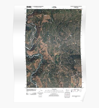 USGS Topo Map Washington State WA Grayback Mountain 20110406 TM Poster