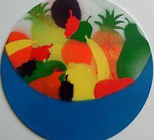 Silken bowl of fruit by George Hunter