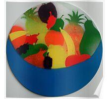 Silken bowl of fruit Poster