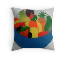 Silken bowl of fruit Throw Pillow