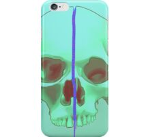 Skull in Green iPhone Case/Skin