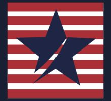 Blue Star Red Stripes Kids Tee