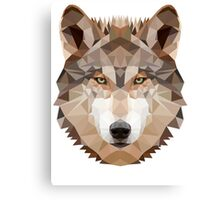 Intense Low Poly Wolf Canvas Print