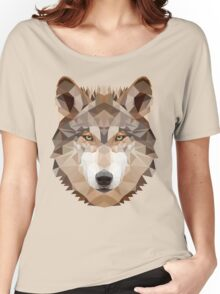 Intense Low Poly Wolf Women's Relaxed Fit T-Shirt