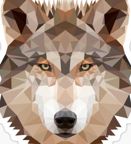 Intense Low Poly Wolf Sticker