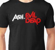 ASH VS EVIL DEAD TITLE WHITE AND RED Unisex T-Shirt