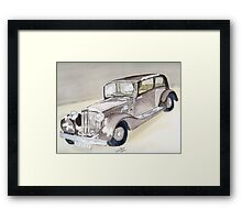 Bentley 1934 Framed Print