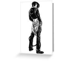 Iori Yagami noir Greeting Card