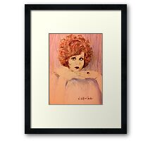 Clara, Redhead Framed Print