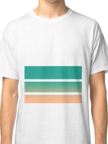 Side Stripes (Purple and Green) Classic T-Shirt