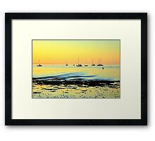 A Golden Glow Framed Print