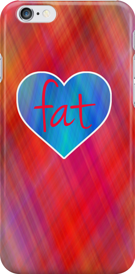Love Fat (Blue and Red) by incurablehippie