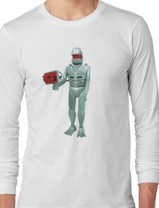 ROM the space knight - retro Action Man (or GI Joe) toy 8-bit style Long Sleeve T-Shirt