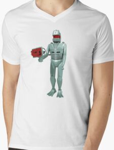 ROM the space knight - retro Action Man (or GI Joe) toy 8-bit style Mens V-Neck T-Shirt