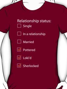Pottered, Loki'd, Sherlocked T-Shirt
