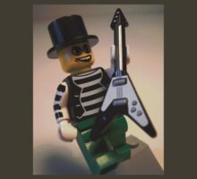 Emo, Goth, Punk, Band Guitarist Custom LEGO® Minifigure with Rock Guitar, by 'Customize My Minifig' by Chillee
