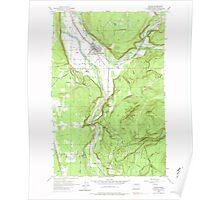 USGS Topo Map Washington State WA Orting 243007 1956 24000 Poster