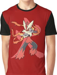 Blaziken With Fire Kanji Graphic T-Shirt