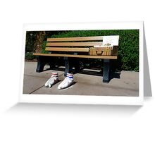 Forrest Gump Bench Greeting Card