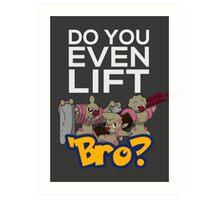 Do You Even Lift Bro - Pokemon - Conkeldurr Family Art Print