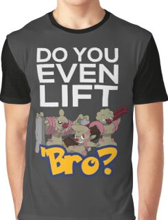Do You Even Lift Bro - Pokemon - Conkeldurr Family Graphic T-Shirt