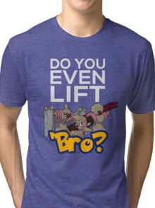 Do You Even Lift Bro - Pokemon - Conkeldurr Family Tri-blend T-Shirt