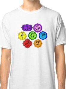 YOGA REIKI PLAIN SEVEN CHAKRA SYMBOLS TEMPLATE Classic T-Shirt