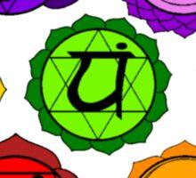 YOGA REIKI PLAIN SEVEN CHAKRA SYMBOLS TEMPLATE Sticker